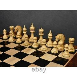 4.4 Dragon Luxury Staunton Chess Pieces Only Set Triple Weighted Ebony Wood