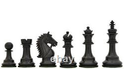 4.4 Luxury Staunton Ebony Wood Chess Pieces Set BRIDLE SERIES Triple Weighted
