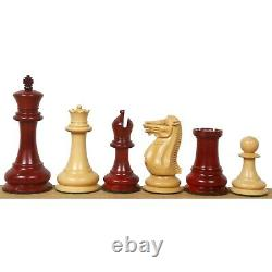 4.4 Reproduced 1849 Staunton Chess Pieces Only set- Bud Rosewood-Triple Weight