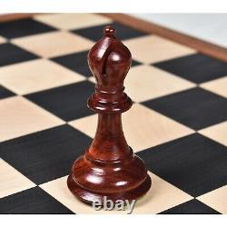4.4 Royal Sultan Staunton Luxury Chess Pieces Only Set Bud Rosewood & Boxwood