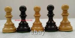 4.4 Staunton Chess Pieces Napoleon Luxury Only Set Triple Weighted Ebony Wood