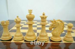 4.5 Bud Rosewood Staunton Chess Pieces Set Alexander Series Weighted with 4Q