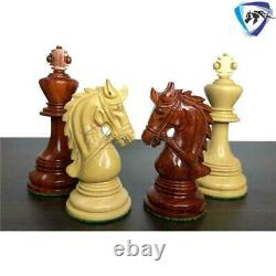 4.5 Bud Rosewood Staunton Chess Pieces Set HADRIAN Series 4 Queens & Weighted