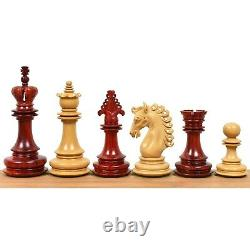 4.5 Carvers' Art Luxury Chess Pieces Only Set -Triple Weighted Budrose Wood