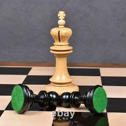 4.5 Carvers' Art Luxury Chess Pieces Only Set -Triple Weighted Ebony Wood