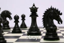 4.5 Ebony Wood Luxury Staunton Chess Pieces Set CYRUS Weighted-4 Queens