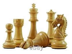 4.5 Ebony Wood Staunton Chess Pieces Set BRIDLE Series 4 Queens & Weighted