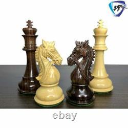 4.5 Rosewood Staunton chess pieces set BRIDLE SERIES Weighted with extra queens