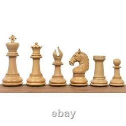 4.5 Sheffield Staunton Luxury Chess Pieces Only Set- Bud Rosewood Triple Weight