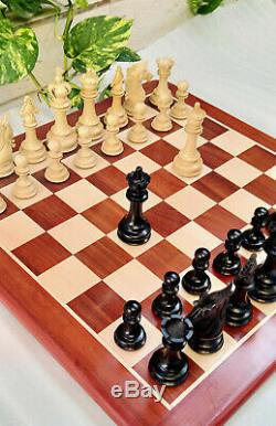 4.5 Sultan Series Staunton Luxury Ebony wood Chess set Triple Weighted pieces