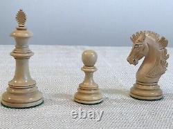 4.5 inch Weighted Hand made Wooden Fierce Knight Staunton Chess Pieces Only set