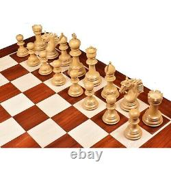 4.6 Arthur Luxury Staunton Chess Pieces Only set -Bud Rosewood- Triple Weighted