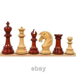 4.6 Mogul Staunton Luxury Chess Pieces Only Set -Triple Weighted Bud Rose Wood