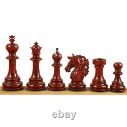 4.6 Prestige Luxury Staunton Chess Pieces Only set-Bud Rosewood-Triple Weighted