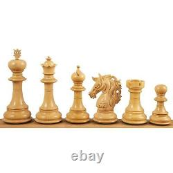 4.6 Prestige Luxury Staunton Chess Pieces Only set -Ebony Wood- Triple Weighted