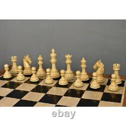 4.6 Rare Columbian Triple Weighted Luxury Chess Pieces Only Set -Ebony Wood