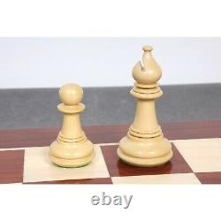 4.6 Spartacus Luxury Staunton Chess Pieces Only Set- Bud Rosewood Triple Weight