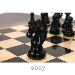 4.6 Spartacus Luxury Staunton Chess Pieces Only Set- Ebony Wood Triple Weight