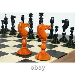 4.7 Pre-Staunton Chess Pieces Only set-Double Weighted Ebony & Antiqued Boxwood