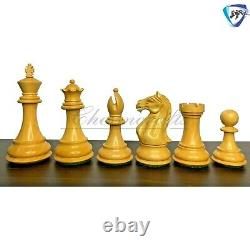4 Bud Rosewood Staunton Chess Pieces Set Fierce Knight Weighted 2 extra queens