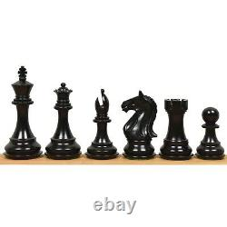 4 Ferocious Knight Staunton Chess Pieces Only set Weighted Ebonised Boxwood