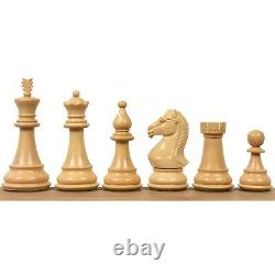 4 Majestic Series Staunton Chess Pieces Only set-Double Weight Ebonised boxwood