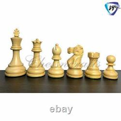 4 Reykjavik Staunton Chess pieces Set in Ebonized Boxwood- Weighted Extra Queen