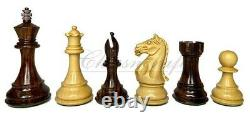 4 Rosewood Staunton Chess Pieces Set Fierce Knight Weighted 2 extra queens