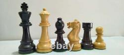 4''Traveller Staunton Luxury Chess Pieces Only set-Triple Weighted Ebony Wood