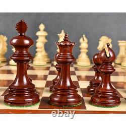 Alexandria Luxury Staunton Chess Pieces Only Set -Triple Weighted -Bud Rose Wood