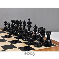 Alexandria Luxury Staunton Chess Pieces Only Set Triple Weighted Ebony Wood