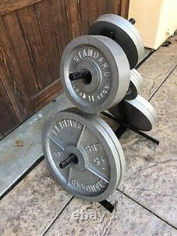 Barbell Olympic 2-Inch Weight Plates 15 Piece Set