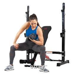 Body Champ Olympic Weight Bench with Rack for Exercise Fitness 2 Piece Combo Set