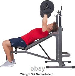 Body Champ PRO3900 Two Piece Set Olympic Weight Bench Fitness with Squat Rack