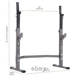 Body Champ Two Piece Set Olympic Weight Bench and Squat Rack