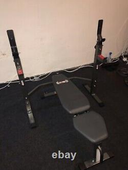 Body Champ Two Piece Set Olympic Weight Bench with Squat Rack PRO3900, PickupOnly