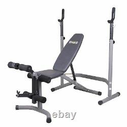 Body Flex Sports 2 Piece 5 Position Steel Olympic Weight Bench Set (Open Box)
