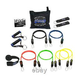 Bodylastics 26 Piece Exercise Equipment Set with Weight Resistance Bands & Anchors