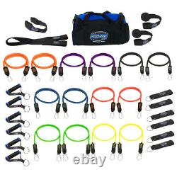 Bodylastics 31 Piece Exercise Equipment Set with Weight Resistance Bands & Anchors