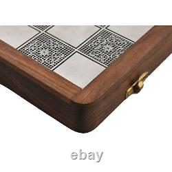 Brass Metal Staunton Inspired Luxury Chess Pieces & Board Set-13 with Rosewood