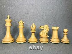 Bud Rosewood Staunton Chess Pieces Set 4.1 PRO CLUB STAUNTON Weighted 4 QUEENS