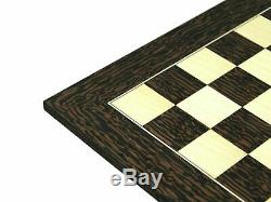 Chess Set Wooden Large Tiger Ebony German Staunton Ebonised Weighted Pieces 20