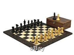 Chess Set Wooden Tiger Ebony Professional Staunton Weighted Pieces 20