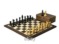Chess Set Wooden Wenge Board Professional Staunton Ebonised Weighted Pieces