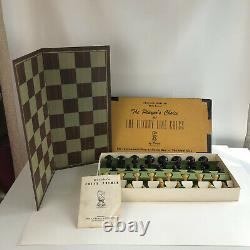 Drueke The Players Choice Of Luxury Line Chess Set #6035 Vintage Weighted Pieces