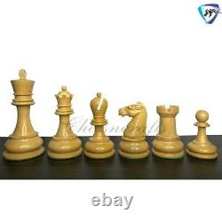 Ebony Wood Chess Pieces Set Reproduced British Chess company-BCC 4.3 Weighted