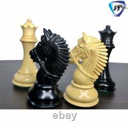 Ebony Wood Staunton Chess Pieces Set King 4.1 EXCALIBUR Weighted 4Q