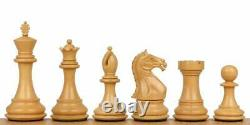 Ebony wood Staunton Chess Pieces Set Fierce Knight 4 Weighted 2 extra queens
