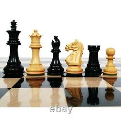 Fierce Knight Staunton Chess Pieces Only set Weighted Boxwood 3.5 King