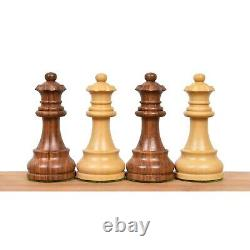French Lardy Staunton Chess Pieces set Weighted Golden Rose wood 4 Queens
